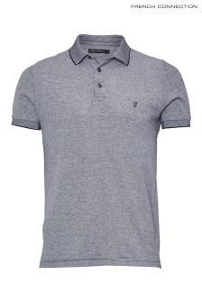 French Connection Blue Oxford Pique Poloshirt