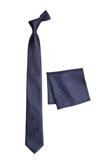 Silk Floral Tie And Pocket Square Set