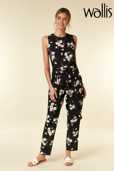 Wallis Black Daisy Jumpsuit