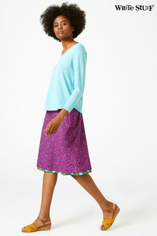 White Stuff Purple Aster Reversible Skirt
