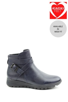 Heavenly Feet Blue Ladies Ankle Boots