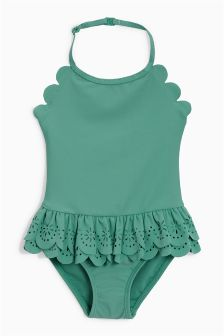 Frill Scallop Swimsuit (3mths-6yrs)