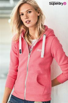 Superdry Orange Label Pink Zip Hoody