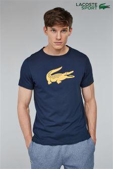 Lacoste® Sport Blue Logo Croc T-Shirt
