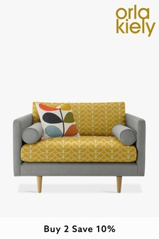 Orla Kiely Mimosa Snuggle Sofa with Oak Feet