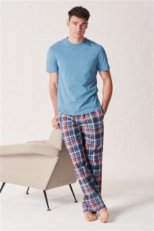 Marl Check Woven Long Set