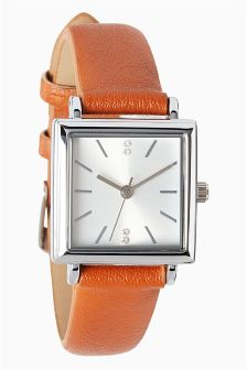 Square Case Strap Watch