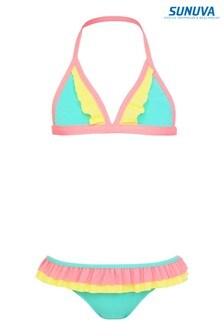 Sunvua Aqua Colourblock Frill Bikini