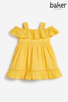 Baker by Ted Baker Yellow Broderie Dress