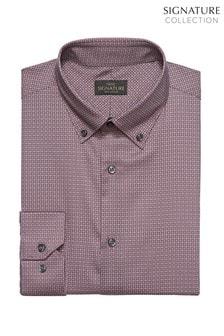 Signature Geometric Print Slim Fit Shirt