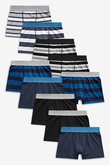 Stripe Trunks Ten Pack (2-16yrs)