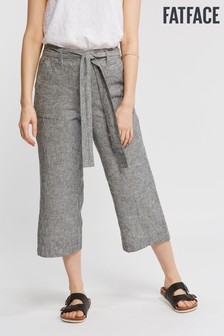 FatFace Grey Exmouth Stripe Crop Trouser