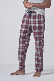 מכנסי פיג'מה נוחים עם משבצות
