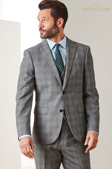 Slim Fit TG di Fabio Signature Check Suit