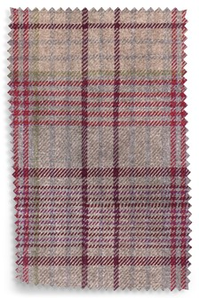 Tweedy Check Elsworth Raspberry Fabric By The Roll