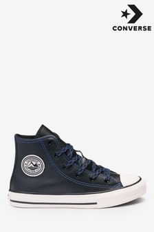 Converse Junior Tumbled Leather High Trainers