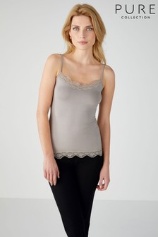 Pure Collection Natural Lace Jersey Camisole