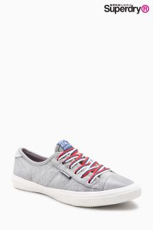Superdry Grey Marl College Low Pro Luxe Trainer