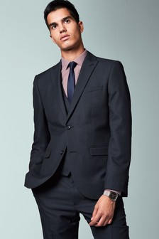 Textured Birdseye Suit: Jacket
