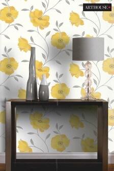 Sophia Motif Floral Wallpaper by Arthouse