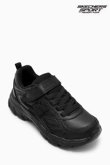 Skechers® Black Strap Trainer