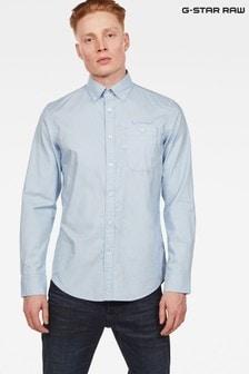GStar Blue Bristum Slim Fit Long Sleeve Shirt