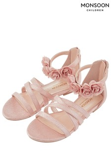 Monsoon Pale Pink Esther Corsage Strap Sandal