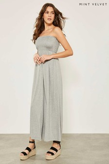 Mint Velvet Grey Jersey Bandeau Maxi Dress