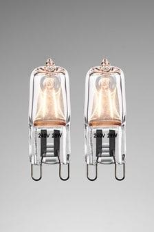 2 Pack 28W Halogen G9 Bulb