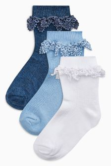 Pretty Ruffle Socks Three Pack (Younger)