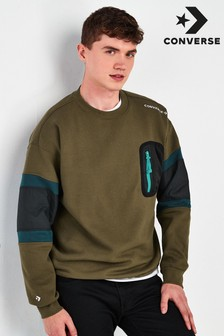 Converse Mix Media Sweat Top