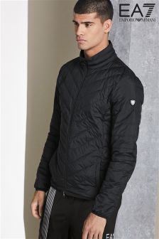 Emporio Armani EA7 Black Shield Light Down Jacket