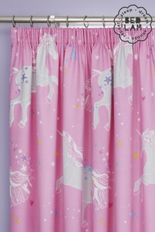 Bedlam Glow in the Dark Unicorn Eyelet Curtains