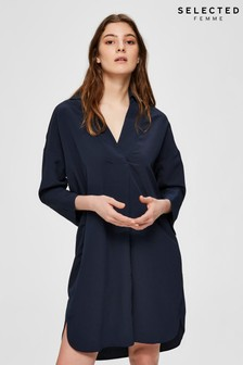 Selected Femme Navy Tunic Tonia Dress