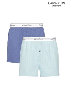 Calvin Klein Blue Modern Cotton Boxers Two Pack