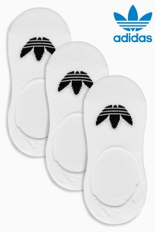 adidas Originals Adults No Show Footsie Socks 3 Pack