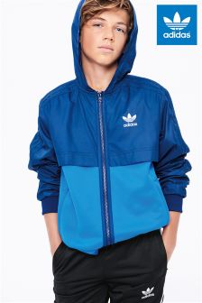 adidas Originals Navy Colourblock Wind Breaker