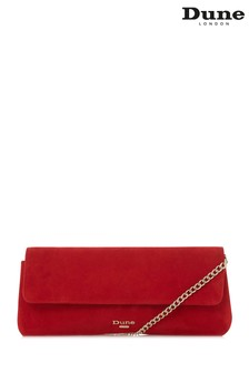 Dune London Red Belong East To West Clutch Bag