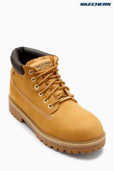 Skechers® Wheat Waterproof 6 Eye Padded Collar Boot