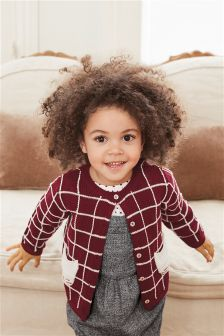 Grid Check Cardigan (3mths-6yrs)