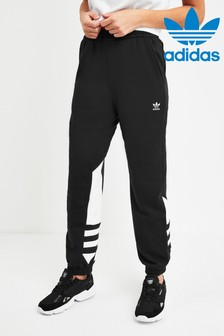 adidas Originals Black Large Logo Joggers