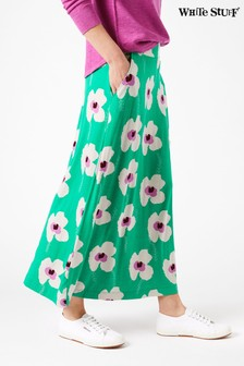 White Stuff Green Jasmine Jersey Maxi Skirt