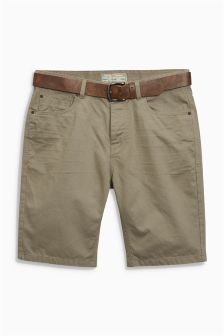 5 Pocket Belted Shorts