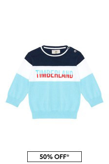 Timberland Baby Boys Navy Cotton Sweat Top