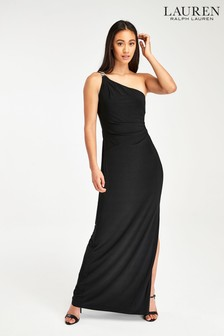 Lauren Ralph Lauren® Black Belina One Shoulder Dress