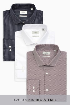 Print Regular Fit Shirts Three Pack