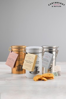 Stem Ginger Biscuit Tea And Coffee Trio by Cartwright & Butler