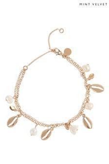 Mint Velvet Gold Plated Shell Bracelet