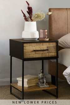 Jefferson 1 Drawer Bedside Table