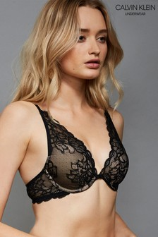 Calvin Klein Black Plunge Lightly Lined Multiway Bra